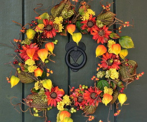 decoration, door, and fall image