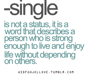 single, true, and word image