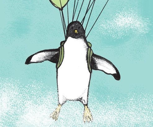 balloons, cuteness, and penguins image