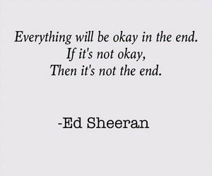 quote, ed sheeran, and okay image
