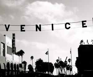 beach, california, and venice image