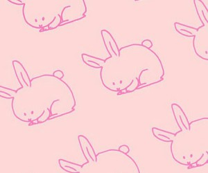 rabbit, pink, and background image