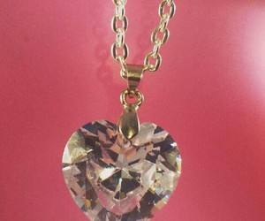 crystal, heart, and high fashion image