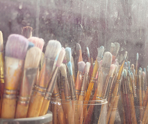 art, Brushes, and paint image