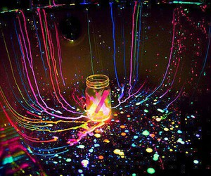 neon, light, and colors image