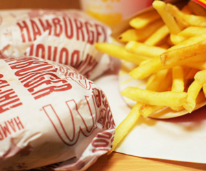 food, hamburger, and delicious image