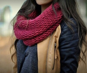 fashion, scarf, and hair image