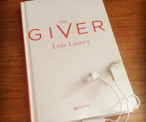 book, movie, and the giver image