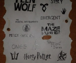 harry potter, teen wolf, and the mortal instruments image