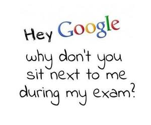 google, exam, and funny image