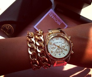 watch, fashion, and gold image