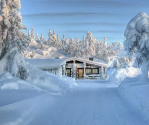 snow landscape and good photography image