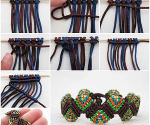 diy, bracelet, and Macrame image