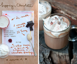 chocolate, drink, and recipe image