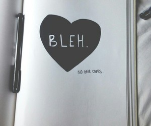 bleh, heart, and book image