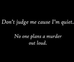 murder, quiet, and quotes image
