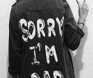 bad, girl, and sorry image