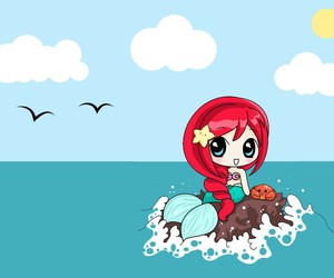 ariel, hair, and mermaid image