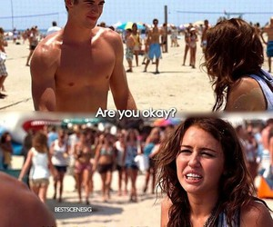 the last song, miley cyrus, and liam image