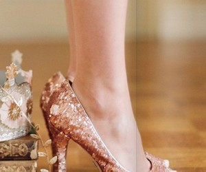 Nude, shoes, and sparkle image