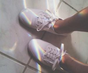shoes, rainbow, and grunge image