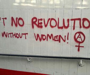 woman, feminism, and revolution image