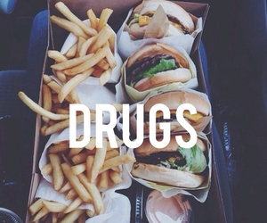 food, drugs, and hamburger image