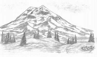 Mountain Sketch Uploaded By Zane On We Heart It