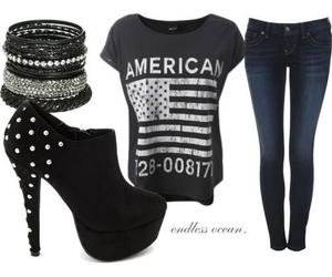 america, fashion, and black image