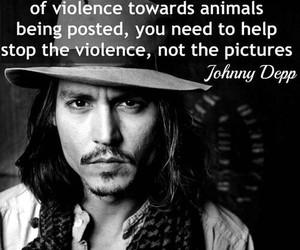 animals, johnny depp, and vegan image