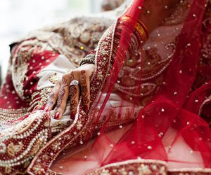 bride, indian, and indian wedding image