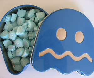 blue, pacman, and Pac Man image