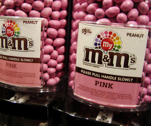 pink, m&m's, and m&m image