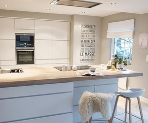 kitchen, white, and house image