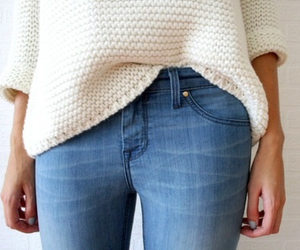 fashion, jeans, and sweater image