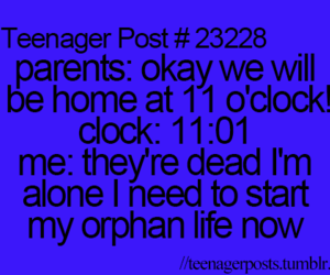 funny, orphan, and parents image