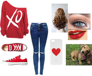 clothes, dog, and heart image