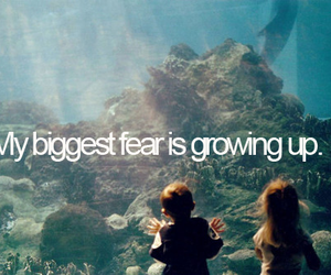 fear, quote, and growing up image
