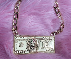 money, pink, and 100 image