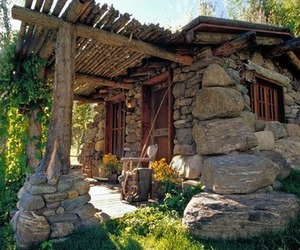 cabin, montana, and rustic image