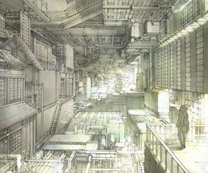 art, city, and manga image