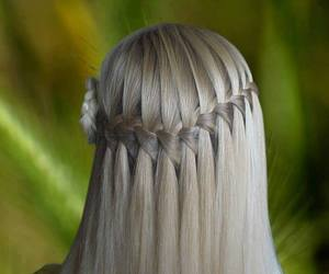 blonde, style, and braiding image