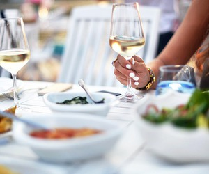 wine, food, and lunch image