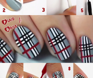 black, gray, and nail art image