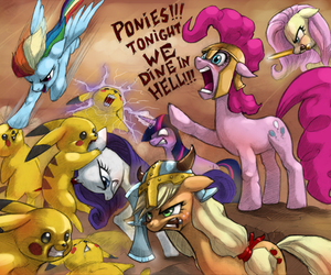 lol, my little pony, and pikachu image