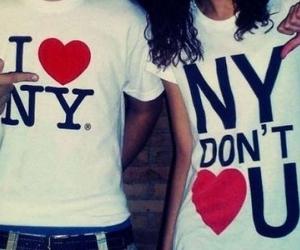 couple, new york city, and dislike image