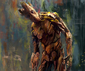 guardians of the galaxy, groot, and wisesnail image
