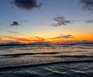 evening, sea, and sunset image