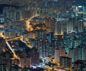 hong kong, kowloon, and skyscrapers image