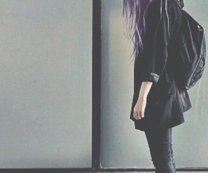 grunge, hair, and black image